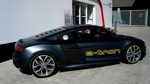 Audi R8 e-Tron elettrica, foto di HazeMX sotto CC