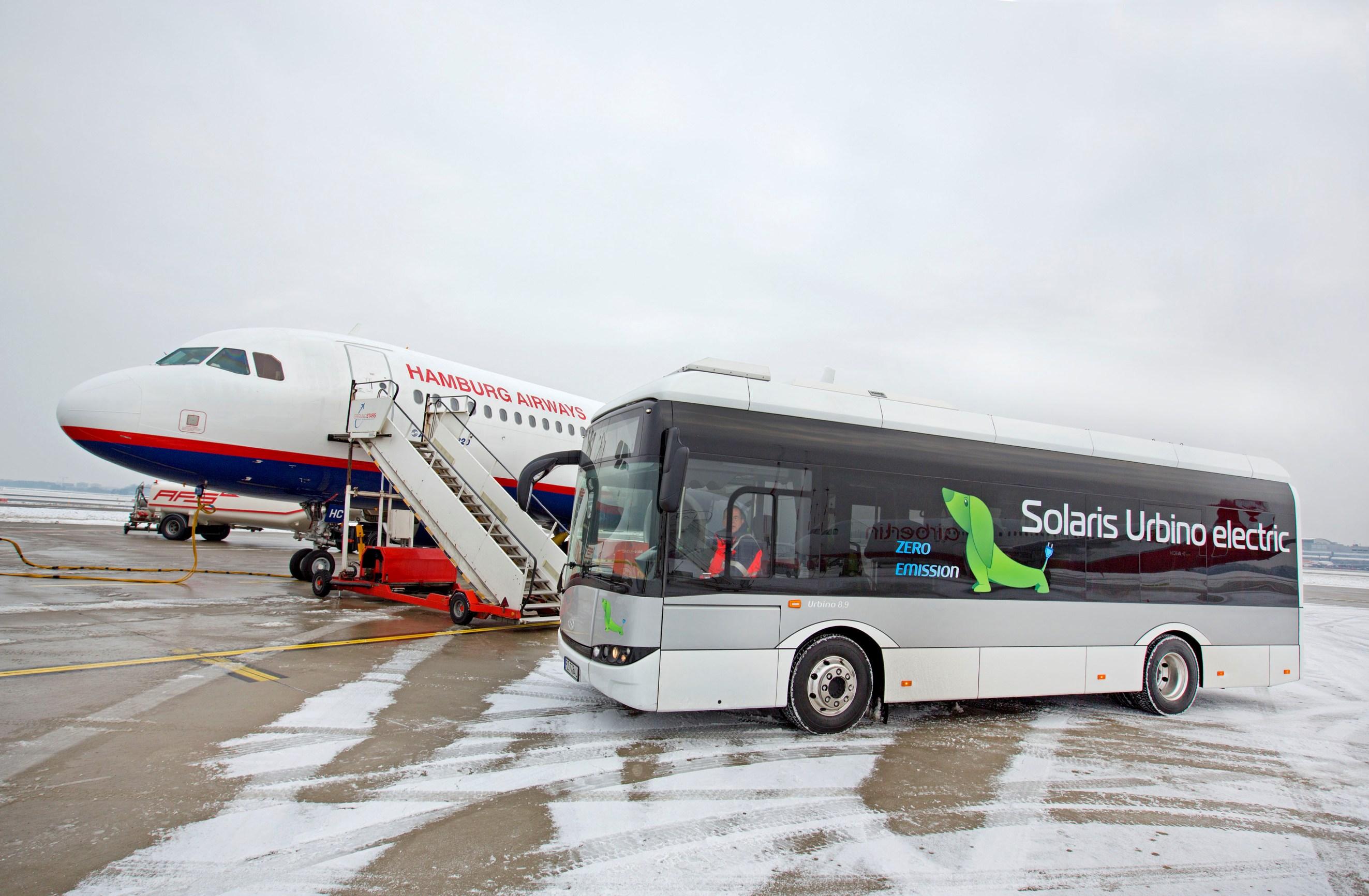 Aeroporto Urbino : Nuovi autobus elettrici solaris innovativi per il tpl di