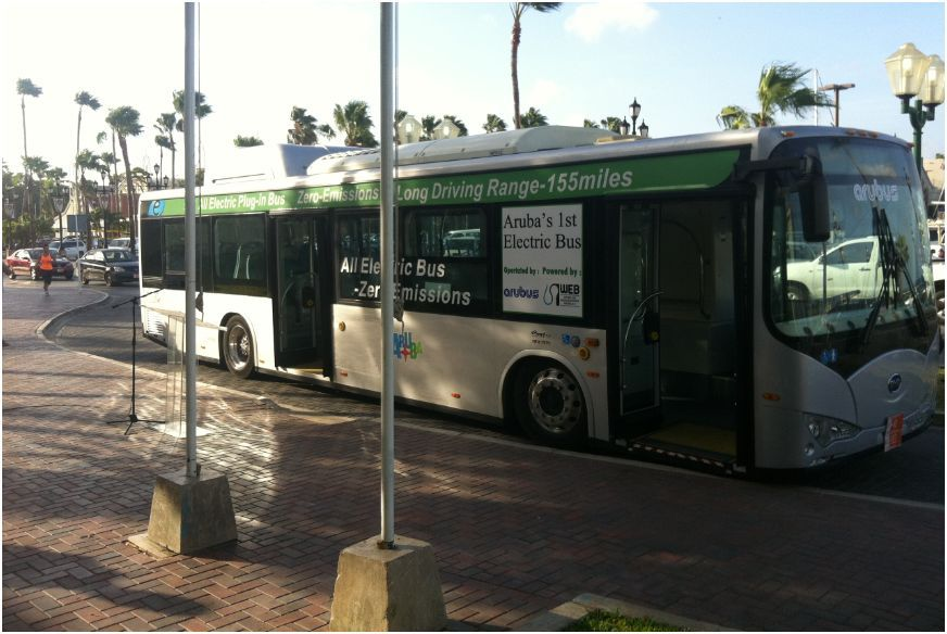 L'autobus elettrico BYD di ARUBUS, ad Aruba