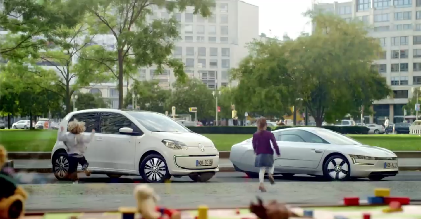 Volkswagen e-Up! ed XL1 spot TV via YouTube
