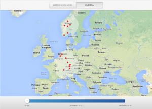 Supercharger stazioni attuali in Europa
