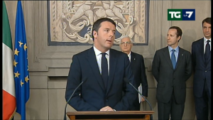 Matteo Renzi - Screenshot from TG LA7