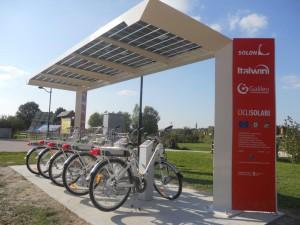 Padova- Pensilina con copertura fotovoltaica