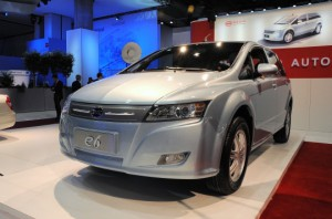 BYD e6 - photo credit: Grist.org via photopin cc