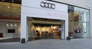 Audi A3 Sportback etron - pop up store Londra via Electric Cars Report