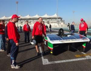 Fig. 4.Test del veicolo sul circuito di Yas Marina ad Abu Dhabi