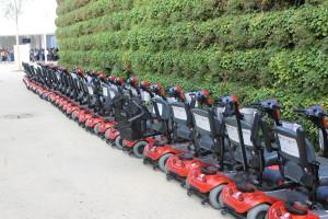 Gli 80 mini-scooter e i 6 mezzi di taglia più grande per gli utenti oversize non bastavano a coprire tutte le richieste giornaliere