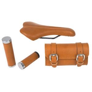 E' possibile personalizzare la propria Wi-Bike con una gamma di accessori in pelle dal sicuro effetto estetico e funzionale.