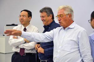 Da sx: William Jin - Presidente Techrules, Fabrizio e Giorgetto Giugiaro