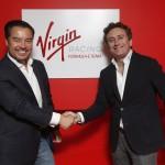 Alex Tai (sin), Team Principal Virgin con Alejandro Agag, CEO Formula E Holdings
