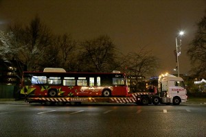 L'arrivo degli e-bus BYD a Londra – Credit: BYD Europe via Facebook
