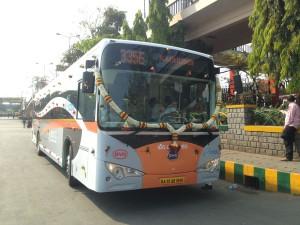 Autobus elettrico BYD a Bangalore, India
