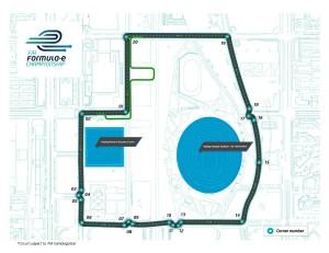 Il circuito dell'E-GP di Beijing