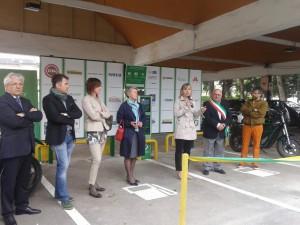 L'inaugurazione della stazione di ricarica Evbility a Dalmine