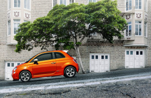Fiat 500e - photo credit: Chrysler Group via photopin cc