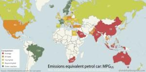 Emissioni equivalenti con auto a benzina - Credit: ShrinkThatFootprint