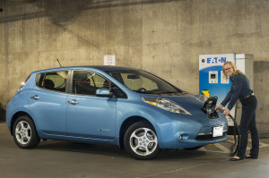 Nissan Leaf - photo credit: WSDOT via photopin cc