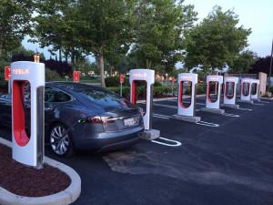 Tesla Supercharger - photo credit: Geek EV via photopin cc