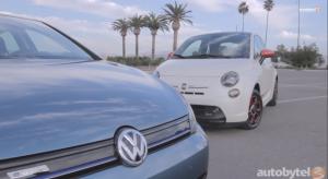 VW e-Golf vs Fiat 500e - Screenshot from Autobytel via YouTube