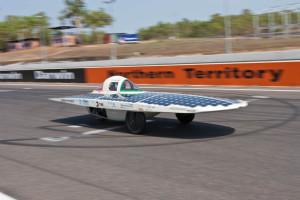 Fig. 2.Attraversata dell'Australia con triciclo solare