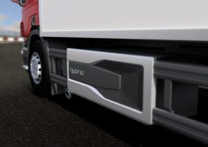 Scania Hybrid Power Unit and side skirt. Illustration: Xavier Carreras-Castro 2015