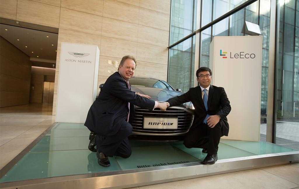 La RapidE elettrica, per la quale Aston martin ha siglato un Memorandum Of Understanding con la società tedesca LeEco - Image Credit: AstonMartin