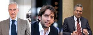 Da sinistra, Bruno Mattucci, AD Nissan Italia; Pierfrancesco Maran, Assessore Mobilità e Ambiente Milano; Valerio Camerano, AD A2A