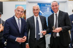 Da sinistra, Francesco Starace AD Enel, Bruno Mattucci AD Nissan Italia, Matteo Del Fante AD Terna