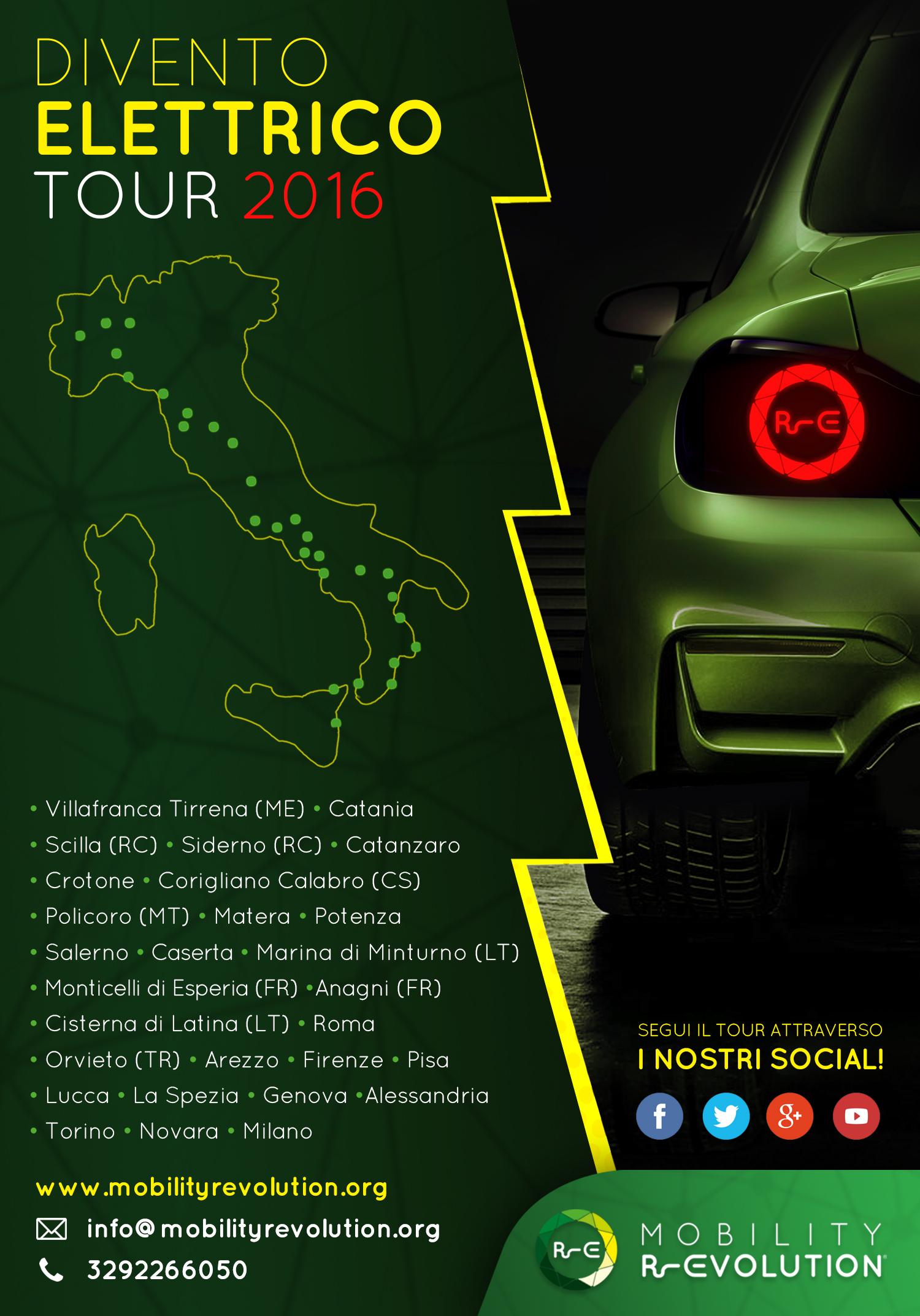 Divento Elettrico Tour 2016 Veicoli Elettrici
